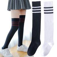 Baby Mädchen Neue Sportkleidung Lange Socken Kinder Gestreiften Patchwork Active Fußball Fußball Baseball über Knie High Socke Hockey J