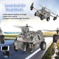 بدون طيار WIFI FPV في الوقت الحقيقي نقل الأراضي الهواء rc drone تانك 2.4 جرام 720P HD كاميرا 2 في 1 تحكم عن بعد تحلق نموذج لعبة 1
