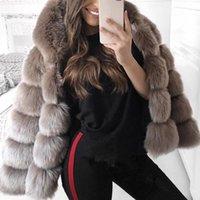 FAUX FEMMES FUL FAUX HIVER ÉPRES CHANCE CHAUD FEMME FEMME PLUS Taille 3x Capuche Jacket à manches longues à manches de luxe