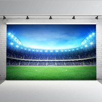 Fond de stade Mehofoto pour la photographie Football Field Photo de fond de toile de fond Studio Studio Football Match MW-1221
