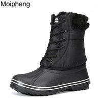 Сапоги Moiipheng Снежные Женщины 2021 Женщина Зимние Обувь Плюшевые Стельки Большой Размер 42 Сохраняйте теплые Mid-Calf Botas For1