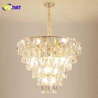 FUMAT Luxury atmosphere K9 crystal lamp postmodern light  living room lamp 2019 new lighting hotel restaurant crystal chandelier