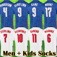 تايلاند 2021 جديد Kane Soccer Jerseys Sterling Vardy Rashford Dele 20 21 فريق وطني للأطفال كيت كيت جوارب كرة القدم كيت قمصان كرة القدم