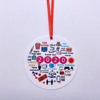 3D Смола 2020 рождественские украшения кулон Семья подарков Украшение рождения партии украшения подарков Санта-Клауса Xmas Орнамент