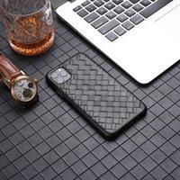 Yüksek Sonlu Lüks Deri Kılıf Cep Telefonu Koruyucu Kapak Iphone 12 Pro Max Cep Telefonu Huawei M40 Samsung Business Örme Stil