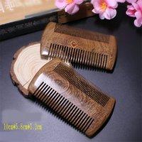 الأخضر خشب الصندل جيب بيرد الشعر أمشاط اليدوية الخشب الطبيعي مشط مكافحة ساكنة خشبية الشعر مشط متعددة الوظائف أدوات العناية بالشعر 47 G2