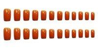 False nail Matte Artificial Fake French Medium Length Short Press On Nails Fingernails for Women and Girls Art Decor Gradient Tips