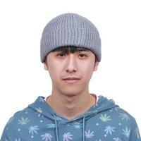 비니 / 두개골 모자 여성을위한 니트 모자 skullcap 남자 비니 모자 겨울 레트로 무당이없는 헐렁한 멜론 모자 커프스 도커 어부 비니