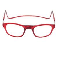 (12pcs / lot) las gafas de lectura plástico de la moda unisex Hang-On gafas de lectura del cuello muchos colores aceptan órdenes de potencia de la lente mixta 100-400