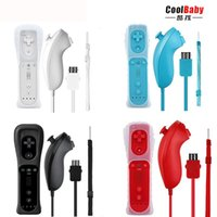 2-in-1 Kablosuz Uzaktan Kumanda + Nunchuk Kontrol Wii için Dahili Motion Plus Wii U Gamepad Joystick + Silikon Kılıf