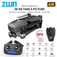 ZWN SG906 / SG906 PRO GPS Drone с Wi-Fi FPV 4K HD Камера Двухосная Anti-Shake Самостабилизирующая Гимбаль безщеточный Quadcopter Dron 201105