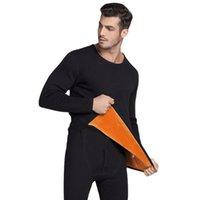 Conjuntos de roupa interior térmica para homens inverno termo térmico roupa interiores roupas de inverno homens grossos vestuário térmico sólido frete 201124