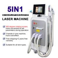 Q Switch ND YAG лазерное оборудование для удаления татуировки Опция SHR + ELIGHT + RF + ND YAG лазерный опцион SHR IPL лазерная машина для удаления волос красоты