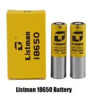 100% original listman imr 18650 3000mAH 40A 3.7V bateria recarregável de alta drenagem para 510 thread box mod autêntico