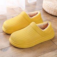 TUINANLE Плоские тапочки для женщин Зимние плюшевые покрытия каблуки обувь вскользь теплые крытые женские туфли пушистые слайды для женщин 2021 210203