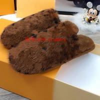 Suite Pantofole piatte Mink Fur BAOTOU Pantofole MINK Pelliccia Pelliccia Soletta indoor Scarpe piatte da interno Tenere caldo e confortevole