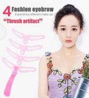 Huda BENSE wiederverwendbar 8 in1 Augenbraueformungsvorlage Helfer Augenbrauenschablonen-Kit-Pfeifen-Karten-Augenbraue, die Makeup-Werkzeuge definieren