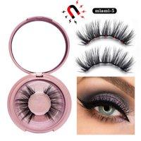 2021 Newest HOT 3D Mink Magnetic Eyelash False Eyelash Extension Waterproof Mink Lashes Makeup Eyelashes Magnetic Liquid Eyeliner