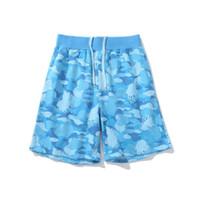 Pantaloncini da uomo Stilista Mens Summer Fashion Beach Pants da uomo Donne in cotone Pantaloncini di alta qualità Pantaloncini rosa Pantaloni blu taglia M-2XL