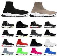 2021 diseñador de calcetines informales zapatillas de deporte zapatillas de mujer moda sexy hechos de punto de calcetín elástico zapato deportivo masculino con caja de caja 35-45
