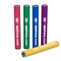 6 Couleurs Moonrock Clear Battery 350MAh 10.5mm 510 Bud Touch Touch LED Light Vape Stylo Batterie pour Bobby Blue Razzle Dazzle Panier 510 Cartouche