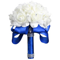 Artificial Rose Flower Bouquet Holding Flowers Bridal Bride ...