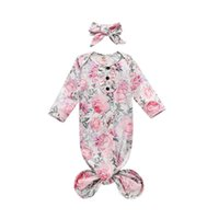 Baby Girls Sleepwear Nightgown Floral Print Sleeping Bag+ Hea...