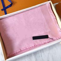 Bufanda caliente para mujer Bufanda de seda de lana Mujeres Bufandas 2021 Moda Cuadrado Bufandas Tamaño 180 * 70 cm Sin caja