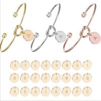 26 букв любви узел браслет браслет девушка Будет ли вы моим невестыми ювелирными изделиями личности круглые подвесные цепные браслеты