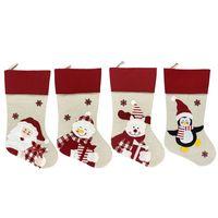 New Weihnachtsstrumpf-Socken-Weihnachtsgeschenk Candy Bag Noel Weihnachtsschmuck Neujahr Natal Navidad Socke Weihnachtsbaum Ornament RRA3812