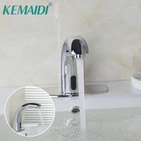 Kemaidi cubierta montada sin toques de lavabo sin toque, grifo de sensores automáticos, placa, lavabo, lavabo, fregadero, mezclador de agua, mezclador de agua grifo