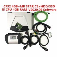 2020 Hot MB STAR SD Connect C5 with CF52laptop (4g ram) with 360gb ssd 320gb hdd soft-ware v2020.09 for Be-nz Diagnostic Tools