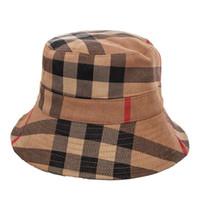 HOT Automne et hiver Nouvelle couleur Chapeau de bassin en daim femme à carreaux Casual pliant chapeau de pêcheur des femmes chaleureuse