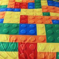 Blssling Toy Pirture Funda de almohada Dot Bloques de construcción Funda para niños Ladrillos coloridos juego Casa Textiles Chicos Cubierta de almohada Y200417