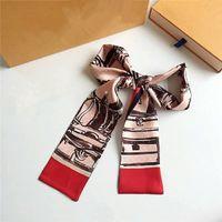 Шелковая сумка сумка шарф повязки повязки новых женщин писем цветок шелковые выстраивает верхний сорт шелковый мешок шарф волос полосы волос 8x120см