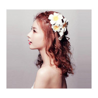 300 stücke MOQ Sunny Hell Künstliche Plumeria Blume Schaum Haar Clips Barrettes Headwear Frangipani Haarschmuck BBYTJO BDESPORTS