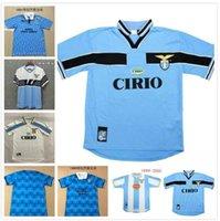 2000 2001 Retro Lazio Soccer Jerseys 10 Crespo 9 Salas 11 Mihajlovic 21 Inzaghi Maglia da Calcio 00 01 Vintage Football Shirts Italia