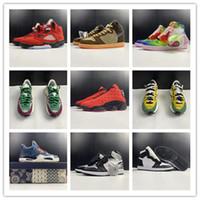 2021 1 Raging Bull Breed Homens Sapatos de Basquete Treinadores Esportes Sneakers Top Qualidade Com Caixa Tamanho 7-13