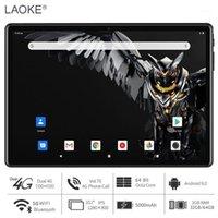 Tablette de 10 pouces Noir Octa Core 3GB RAM 64GB ROM 1280x800 Écran 4G LTE Téléphone Appel Android 9 Pie 5G WiFi 5000mAh Batterie GPS1