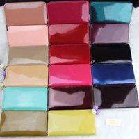La patente al por mayor shinny la carpeta larga de cuero multicolor de alta calidad caja de moneda original de la moda las mujeres del monedero clásico de la cremallera del bolsillo de lujo