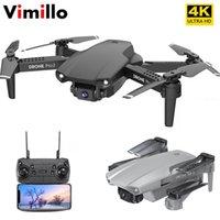 Vimillo Mini E99 mit 4k HD Weitwinkelkamera Drohne Wifi 1080p Echtzeitübertragung FPV GPS Folgen Sie mir RC Quadcopter PK E58 E68