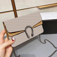 Mini Classic Retro Damen Brown Leder 17 cm Damen Handtasche Brieftasche Leder Messenger Bag Mode Designer Kette Umhängetasche