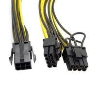 200 шт. 8 PIN-код Женщина к двойным PCI-E PCI Express 8PIN (6 + 2 PIN-код) Мужской кабель питания для видеокарты