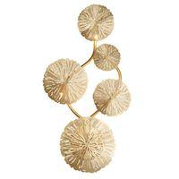 Duvar Lambası Artpad Bakır Cilası Altın Lotus Yaprak Vintage Retro Başucu Oturma Odası Sanat Dekor Ev Aydınlatma Aplikleri G4 Ampul