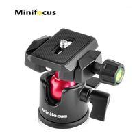 Minifocus كاميرا فيديو ترايبود الكرة رئيس 360 درجة تناوب بانورامي ballhead 1/4 بوصة سريعة الحذاء لوحة فقاعة مستوى الكانون 1