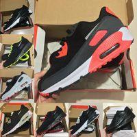 2021 Новые 90-х годов Спортивная обувь Дешевые 90 Мужчины Женщины Воздушные Воздушки Черный Белый Инфракрасный Розапт Королевский Денхам Открытый Кроссовки Классические Дизайнеры Обувь A56