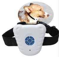 Novo Ultrassonic Pet Dog Anti Bark Pare de Treinamento Collars Bark Controle Cão Colar Cão Máquina de Treinamento