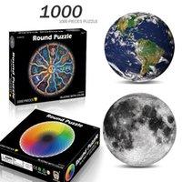 Многократные стили круглые головоломки 1000 штук сборки интеллект игрушки для взрослых детей детей детские игры развивающие игрушки
