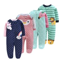 Winter Newborn Baby Clothes Girl Romper Soft Fleece Animal U...