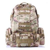 Sacos ao ar livre 50l grande capacidade mochila escalada multi-função combinação pacote tático rucksack1